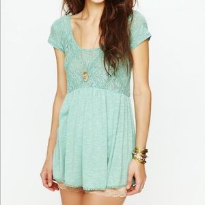 baf85a782a89f2 Free People Tops - Free People Extreme Babydoll top mint green